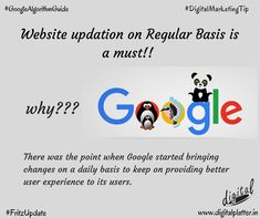 Website updation on Regular Basis is so prudent. Since, Google makes frequent changes to its search system so that only the best information is traced at Number 1 Position in Google Search.  #DigitalMarketingAgenciesinWorld #TopDigitalMarketingCompanies #MonthlyUpdates #GoogleAlgorithmUpdate #FritzUpdate  #GoogleAlgorithmChange #DigitalPlatter #DigitalMarketingConsultants Top Digital Marketing Companies, User Experience, Image Sharing, Behavior, Positivity, Change, Number, Website, Google Search