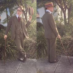 Apologies for my recent lack of posts, have had a lot going on as of late.. Managed to find the time to throw together this ensemble   #vintage #vintagemenswear #suit #vintagesuit #3piecesuit #boater #starchedcollar #stiffcollar #spatboots #1900 #1910 #1920 #bespokesuit #bespoke