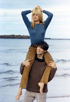 Brigitte Bardot and Laurent Terzieff in A Coeur Joie, 1967