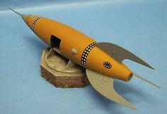 MYST Style Steampunk Space Rocket Ship Resin Model Kit with Interior details.