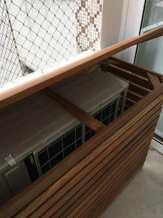 Atelier do Zero: Escondendo a condensadora de ar condicionado da varanda do apto da Heloisa
