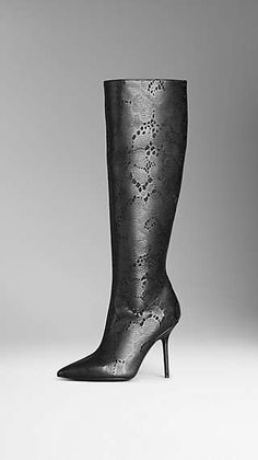 Leather Lace Boots