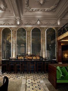 Bar at the London Edition Hotel by Yabu Pushelberg