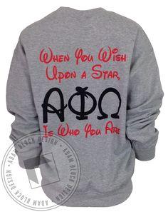 Alpha Phi Omega When You Wish Sweatshirt