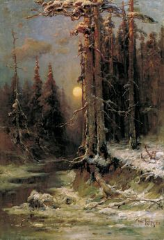 Stream in Forest by Julius Sergius von Klever