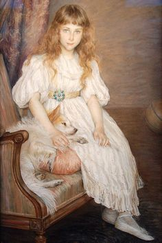 La Petite Fille au Chien Blanc, 1891 by Louise Catherine Breslau on Curiator, the world's biggest collaborative art collection. Blog Art, Art Gallery, Dogs And Kids, Victorian Art, Michelangelo, Beautiful Paintings, Oeuvre D'art, Art Museum, Vintage Art