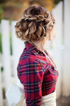 Wedding hair  Up and out of the way