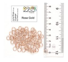 Handmade Jump Rings - 5.0 mm - 18 gauge enameled copper - Rose Gold. Great for chainmail and jewelry!