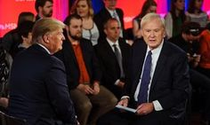 Donald Trump and Chris Matthews during the MSNBC town hall.