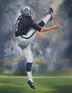 Oakland Raiders Painting - Oakland Raiders Ray Guy by Angie Villegas Raiders Baby, Raiders Football, Football Art, Ray Guy, Oakland Raiders Images, Bo Jackson, Raider Nation, Sports Art, American Football