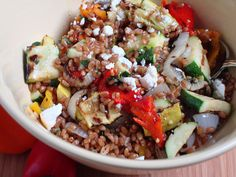 Grilled Vegetable Salad With Wheat Berries   Craving Something Healthy…
