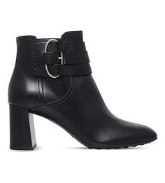 TODS Buckled leather ankle boots