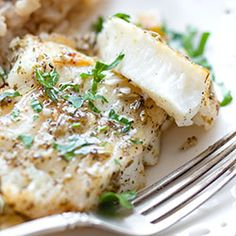 Pieczony filet z halibuta | Kwestia Smaku Fennel Seeds, Mashed Potatoes, Seafood, Healthy Eating, Cooking Recipes, Fish, Chicken, Ethnic Recipes, Diet