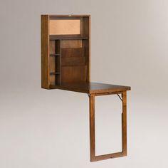 Walnut Alden Foldout Convertible Desk | World Market