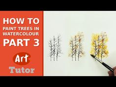 How to Paint Trees in Watercolour - Part 3 - YouTube