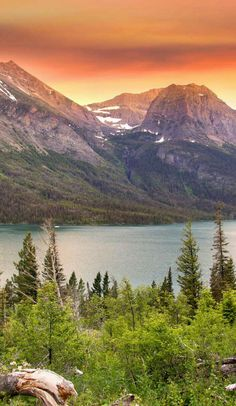 Awesome View of Nature  Glacier national park, Montana