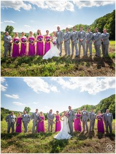 Orchid Inspired Wedding, Purple Wedding, Gray and Purple Wedding, Purple Bridesmaid Dress, Bride, Outdoor Wedding, Wedding Party Pictures, Bridal Party Pictures, Fun Bridal Party Pictures, Eagle Ridge Resort, UnPosed Photography, Galena IL Wedding Photography, UnPosed Photography Galena IL, Galena IL