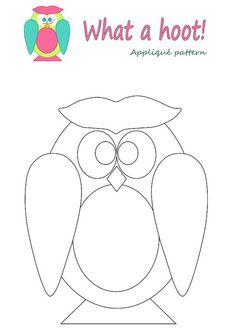 Owl appliqué pattern... Maybe in felt?