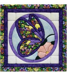 Shop for Quilt Magic Butterfly Quilt Kit Get free delivery On EVERYTHING* Overstock - Your Online Sewing & Needlework Shop! Quilting Projects, Quilting Designs, Sewing Projects, Pach Aplique, Fabric Crafts, Sewing Crafts, Butterfly Kit, Quilted Wall Hangings, Mini Quilts