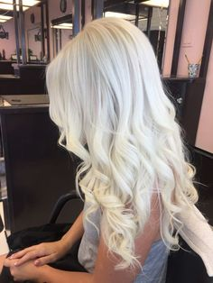 Icy Platinum Blonde Hair