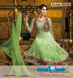 Genuine Magnificence Can Come Out From Your Dressing Style With This Lime Green Net Salwar Kameez. This Gorgeous Dress Is Showing Some Remarkable Embroidery Done With Lace, Resham, Sequins, Stones Work. Paired With A Matching Bottom Comes With A Matching Dupatta  Visit: http://surateshop.com/product-details.php?cid=2_27_43&pid=8158&mid=0