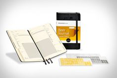 Moleskine Beer Journal - this site has the best gifts for guys.