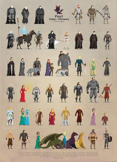 Pixel Game of Thrones by Boo! Studio