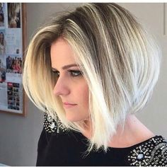 Blond bob hairstyle idea