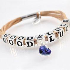 Bracelet GOOD LUCK with crystal cube pendant SWAROVSKI ELEMENTS, silver version  http://store.lovya.net/letters-from-your-heart-lovya/462-bracelet-good-luck-with-crystal-cube-pendant-swarovski-elements-silver-version-.html
