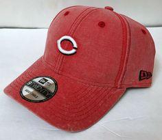 cheap for discount 05085 f8b4a rare CINCINNATI REDS HAT faded wash STRUCTURED FIT small logo New Era  men women