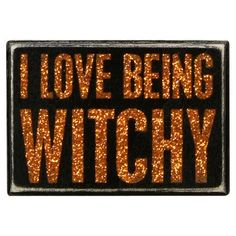 Featuring a bold glitter text motif, this eye-catching wall decor is a perfect accent for your Halloween entryway or buffet.