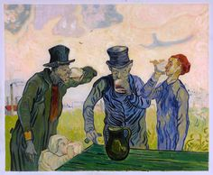 The Drinkers-Vincent van Gogh hand-painted oil by PaintingMania