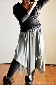 tales of love and chocolate: Another no-sew skirt DIY