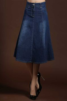 2015 Jean jupes longues femmes a ligne taille haute Denim femme jupe longue Maxi jupe , Plus la taille Saia Longa Feminina H4049 dans Jupes de Accessoires et vêtements pour femmes sur AliExpress.com | Alibaba Group