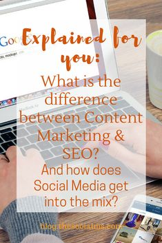 Social Media Marketing (SMM) is not Content Marketing and Content Marketing is not SEO. Here is where they are similar and what makes them different. What is the difference between content marketing and SEO? How does social media fit into content marketing? How does social media help seo and how important is social media for content marketing? seo and social media,