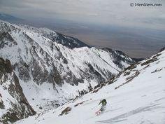 Brittany Walker Konsella backcountry skiing on Kit Carson.