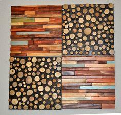 Modern Rustic sliced Wood Art