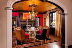 Great Gatsby Dining at the Bucks County Charity Designer House in Doylestown, PA traditional dining room