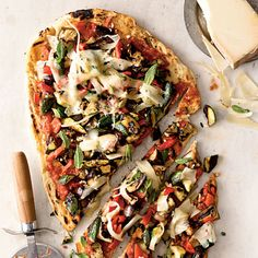 Veggie Grilled Pizza - Summer Squash and Zucchini Recipes - Cooking Light