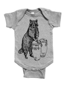 Raccoon Baby Romper - Funny Baby One Piece - Unique Baby Shower Gift - New Mom Gift Idea - Gifts for Baby Boys or Girls - Baby Bodysuit Baby Boy Or Girl, Baby Boys, Unique Baby Shower Gifts, Holding Baby, Gifts For New Moms, Funny Babies, Baby Bodysuit, Baby Gifts, Rompers