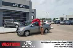 #HappyBirthday to Christina from Antonio Page at Westside Kia!  https://deliverymaxx.com/DealerReviews.aspx?DealerCode=WSJL  #HappyBirthday #WestsideKia