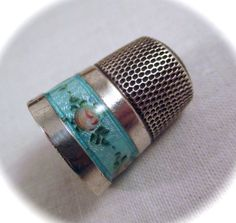 Vintage STERLING ENAMEL THIMBLE Simons by DaffodilsVintage on Etsy, $38.00