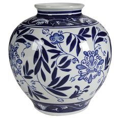 Make a statement with your bouquets. This finely detailed Blue & White Porcelain Vase is patterned after classic blue and white pottery design and will add a hint of refinement to any room, hallway, or entryway. Size: x Gender: unisex. Porcelain Ceramics, Ceramic Vase, White Ceramics, Porcelain Jewelry, Blue And White Vase, White Vases, Blue Vases, Statue Antique, Black Lamps