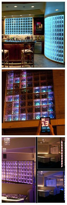 Интересный проект представила группа любителей светотехники Hive 13. В этом проекте, одна из стен ванной комнаты, выходящая на улицу, изготовлена из толстых непрозрачных стеклянных блоков, была модернизирована и приобрела вид светодиодного дисплея. #подсветка #освещение #светодиоды #светодиоднаяподсветка #стеклоблоки #стеклоблокисподсветкой #стеклянныеблоки #интерьер #стеклоблокивинтерьере #стеклоблокивквартире #цветныестеклоблоки #дизайн
