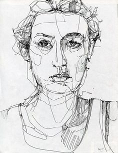 Single line portrait drawing by dolly