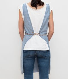 Smock Aprons | cooking smock-blue-back-honest fare apron collection
