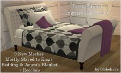 ohbehave007:  Chesterfield Inspired Bed Set New mesh set available here at my blog.