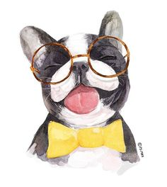 #일러스트#페인터#그림#프렌치불독#애완견 #강아지#illust#painter#frenchbulldog Painting Patterns, Dog Art, Watercolor Art, Cute Dogs, Cute Animals, Wall Art, Drawings, Instagram Posts, Illustrations