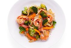 A fabulous, simple-enough-for-a-Wednesday dish that uses three healthy staples: quinoa, broccoli and bell pepper.