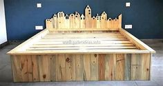 recycled pallet wood bed 72